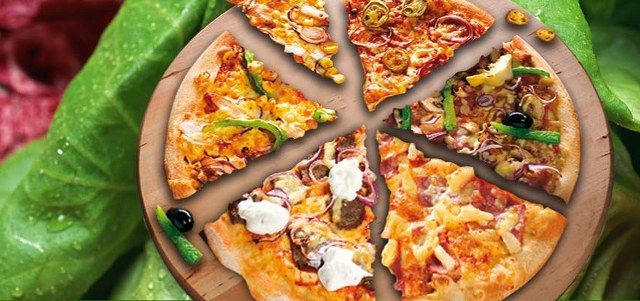 Karışık pizza resimli