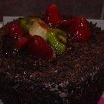 Çikolatalı yuvarlak pasta