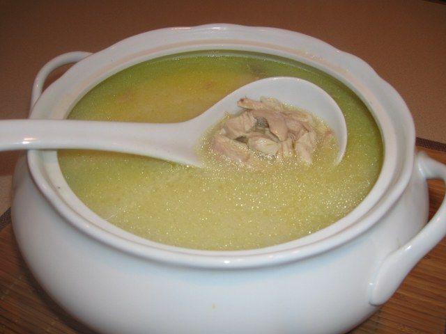Resimli tavuk suyu çorbası