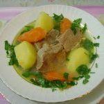 Sebzeli haşlama et yemeği