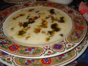 Pazılı ayran çorbası