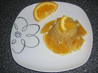 Portakallı irmik helvası resimli