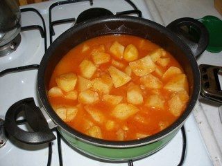 Tavuklu patates yapılışı