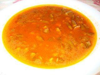 Bamya çorbası yapımı
