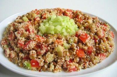 Bulgur salatası yapımı