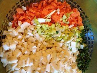 Vitamin çorbası yapımı