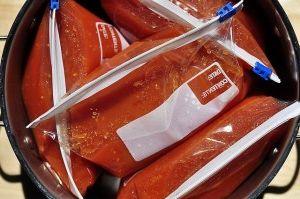 Derin dondurucuda domates