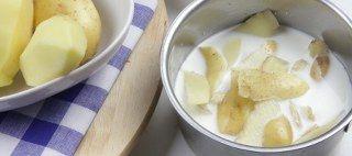 Patates püresi haşlama