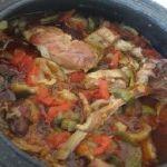 Fırında sebzeli kuzu eti