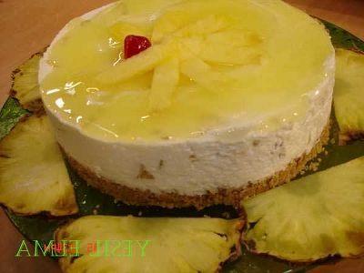 Ananaslı bisküvi pastası