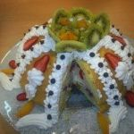 Meyveli sürpriz pasta