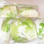 Derin dondurucuda lahana